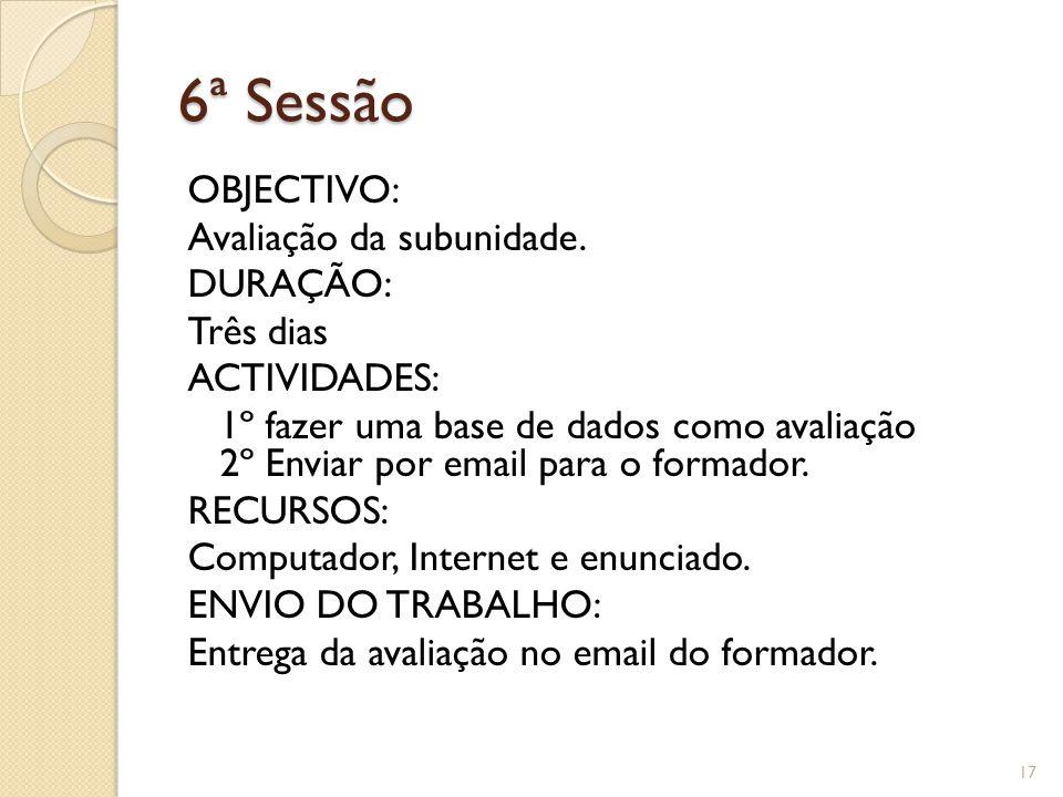 6ª Sessão