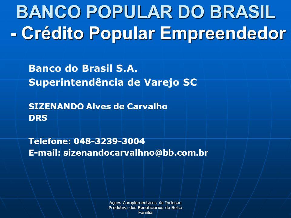 BANCO POPULAR DO BRASIL - Crédito Popular Empreendedor