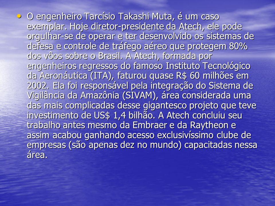 O engenheiro Tarcísio Takashi Muta, é um caso exemplar