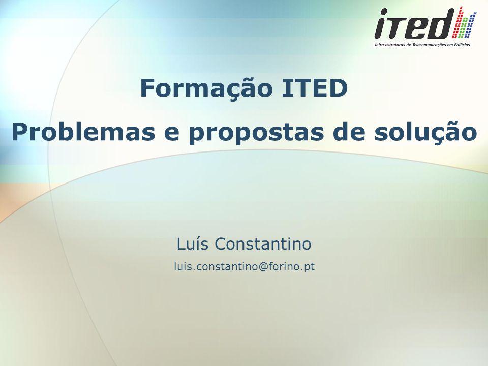 Formação ITED Problemas e propostas de solução