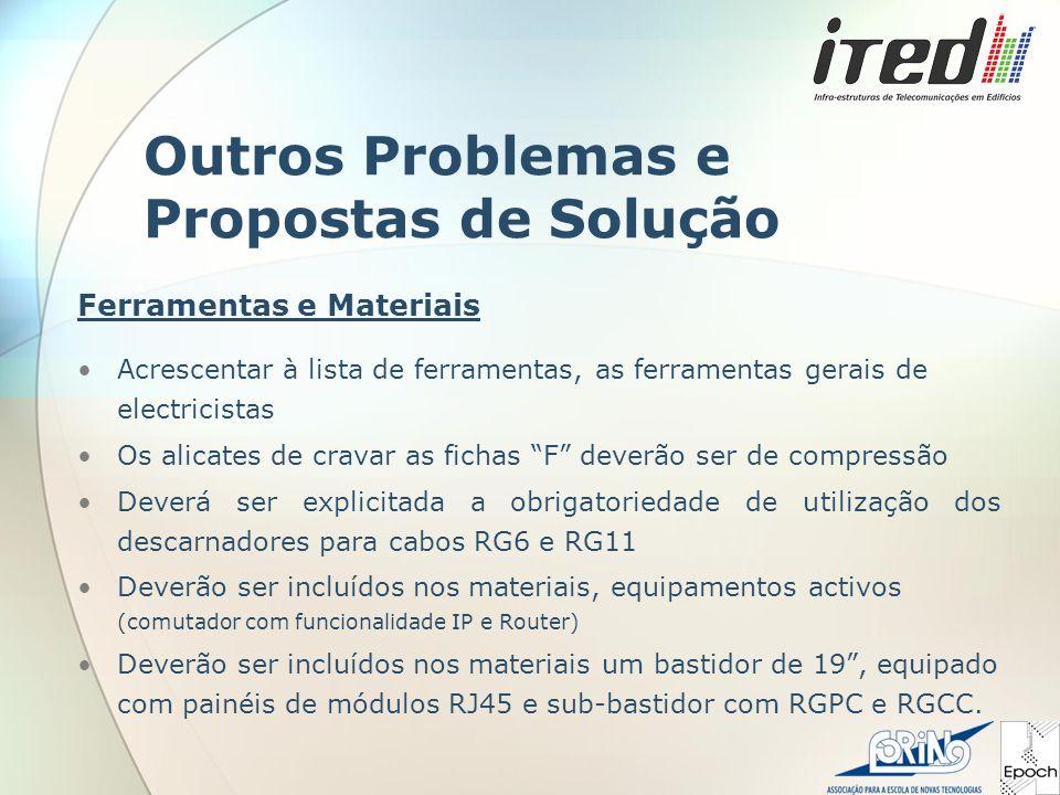 Outros Problemas e Propostas de Solução