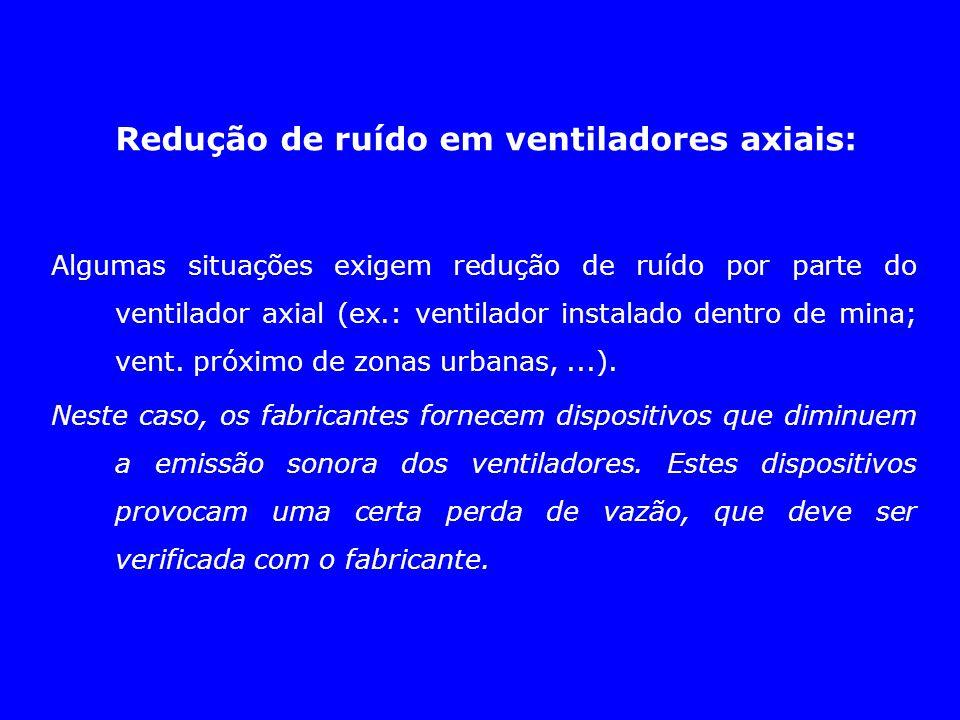 Redução de ruído em ventiladores axiais: