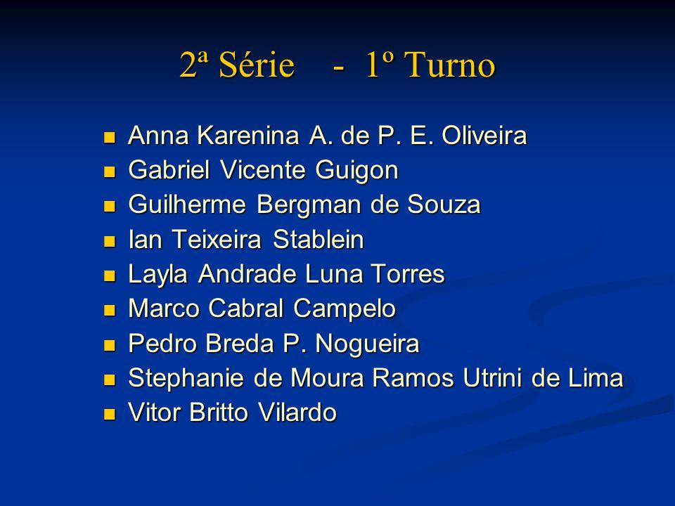 2ª Série - 1º Turno Anna Karenina A. de P. E. Oliveira