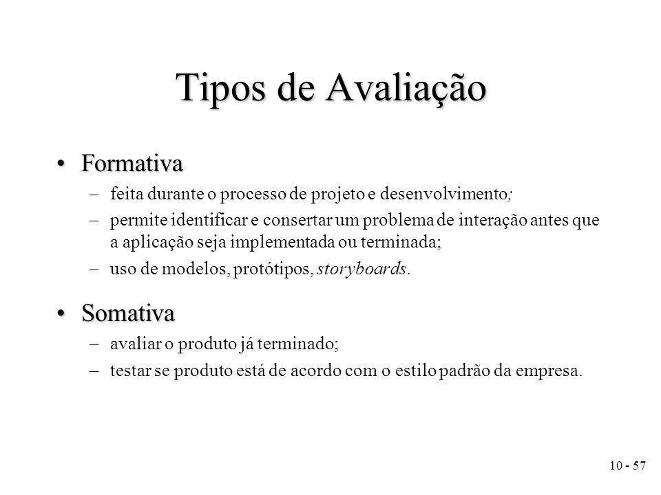 Tipos de Avaliação Formativa Somativa