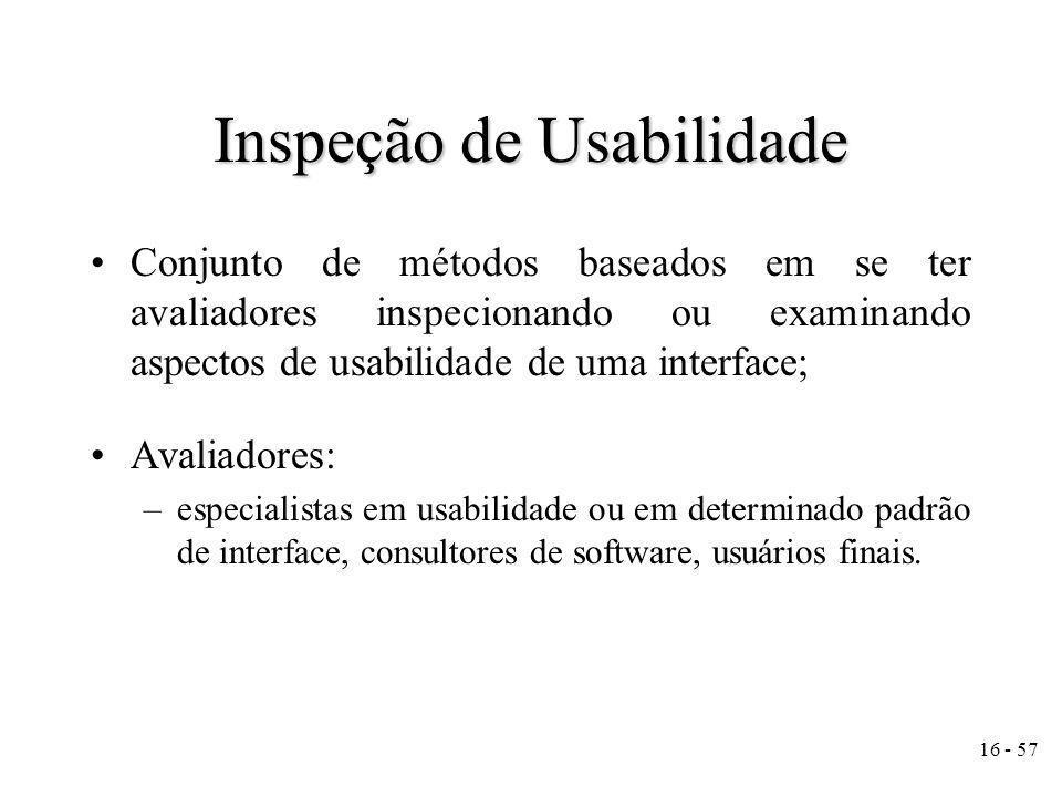 Inspeção de Usabilidade