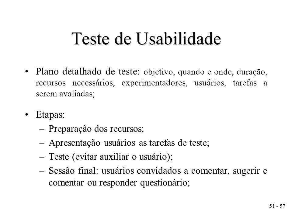Teste de Usabilidade