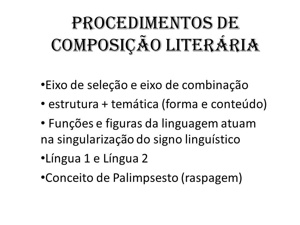 Procedimentos de composição Literária