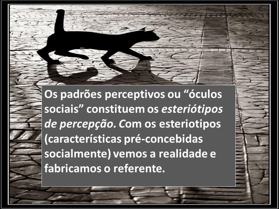 Os padrões perceptivos ou óculos sociais constituem os esteriótipos de percepção.