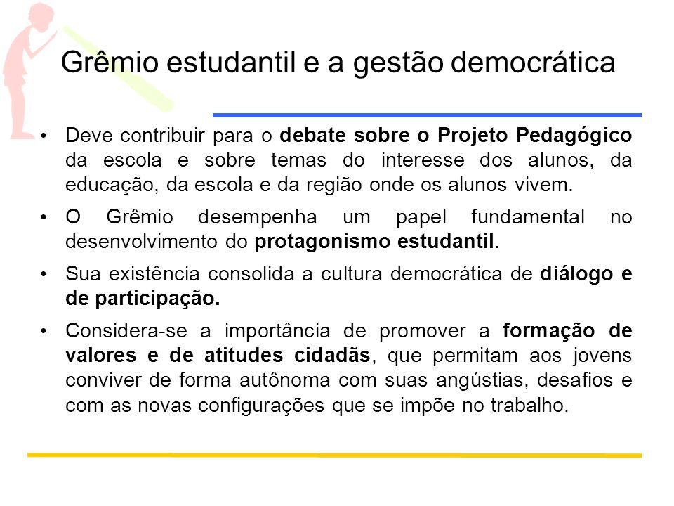 Grêmio estudantil e a gestão democrática
