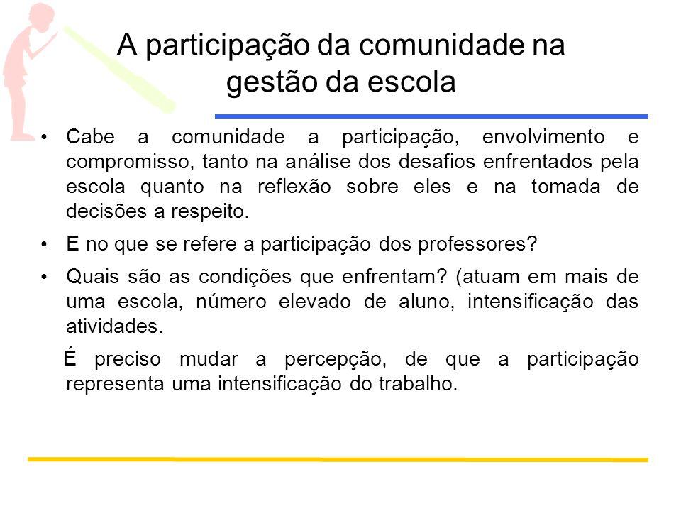 A participação da comunidade na gestão da escola