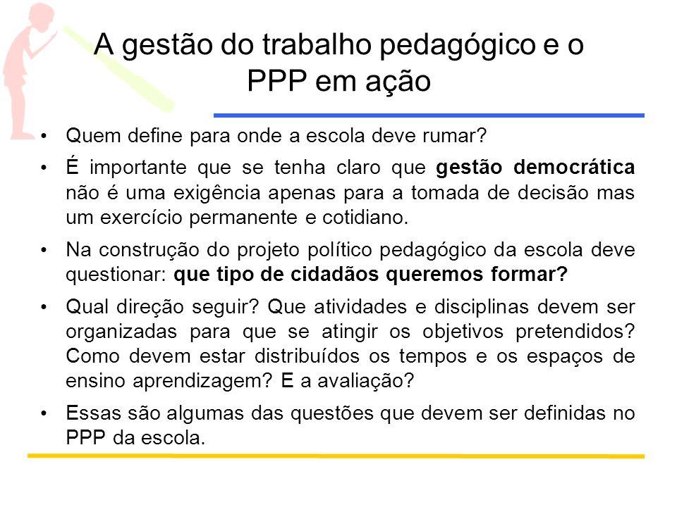 A gestão do trabalho pedagógico e o PPP em ação