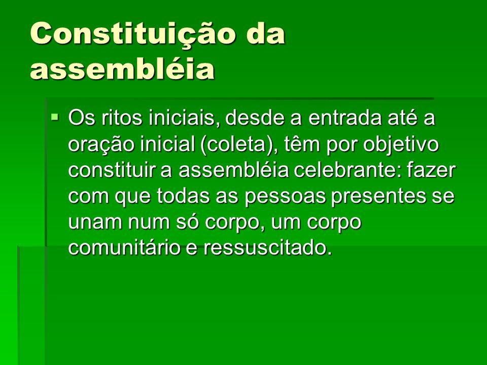 Constituição da assembléia