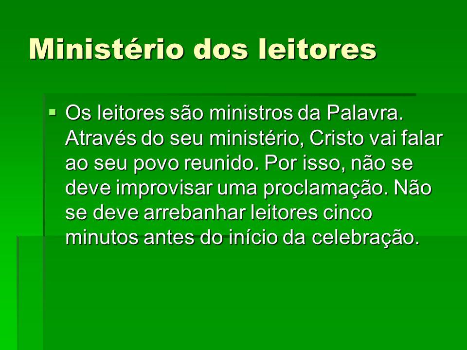Ministério dos leitores