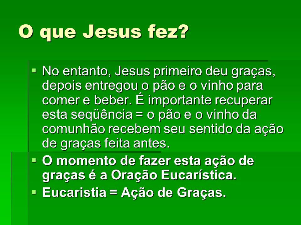 O que Jesus fez
