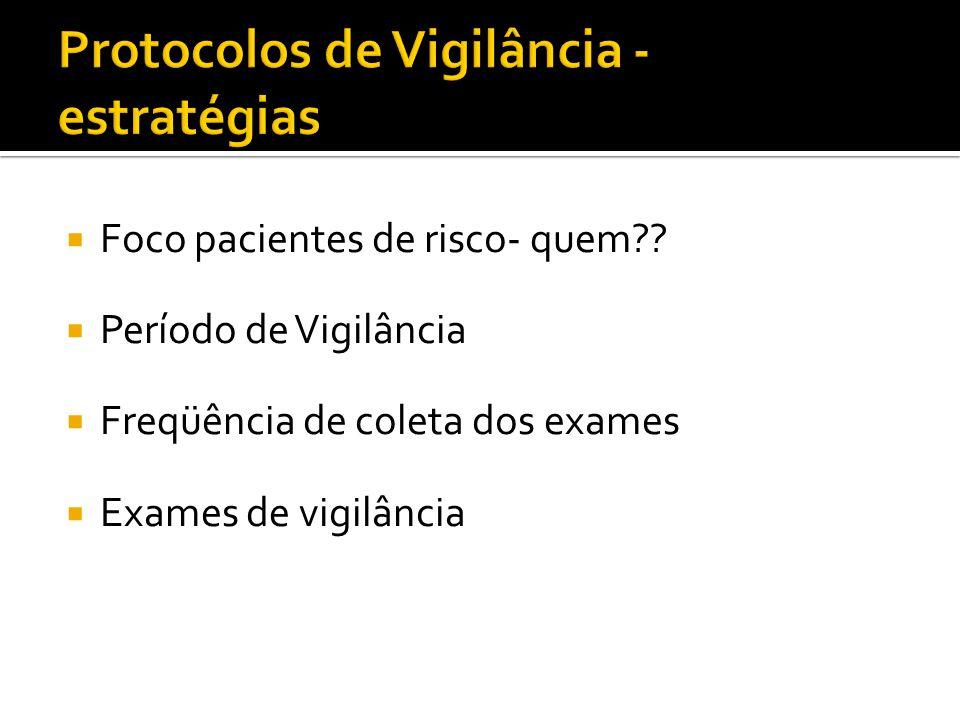 Protocolos de Vigilância - estratégias