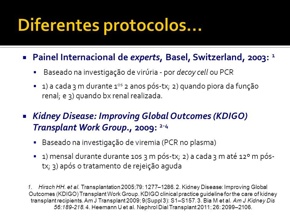 Diferentes protocolos...