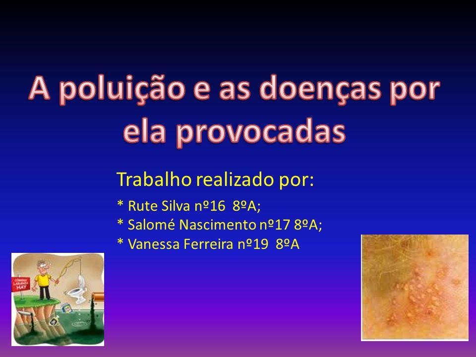 A poluição e as doenças por ela provocadas