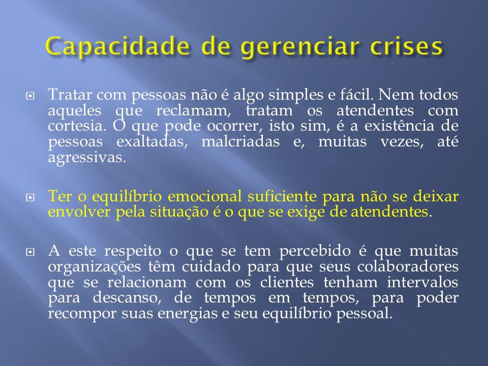 Capacidade de gerenciar crises