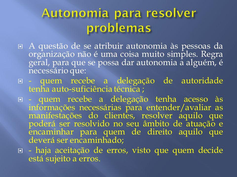 Autonomia para resolver problemas