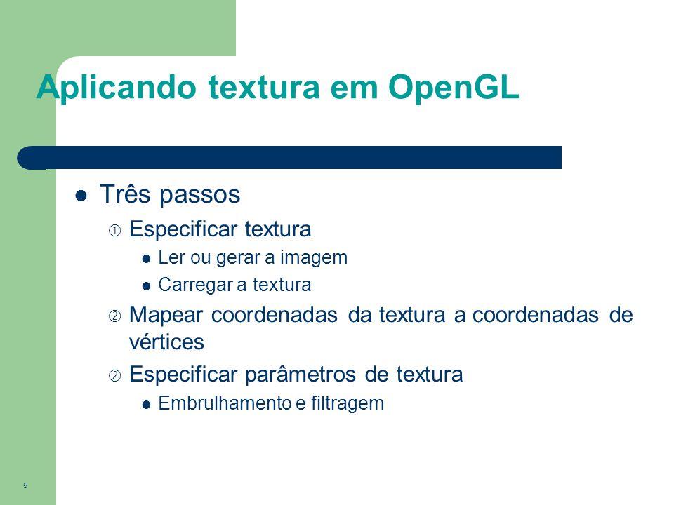 Aplicando textura em OpenGL