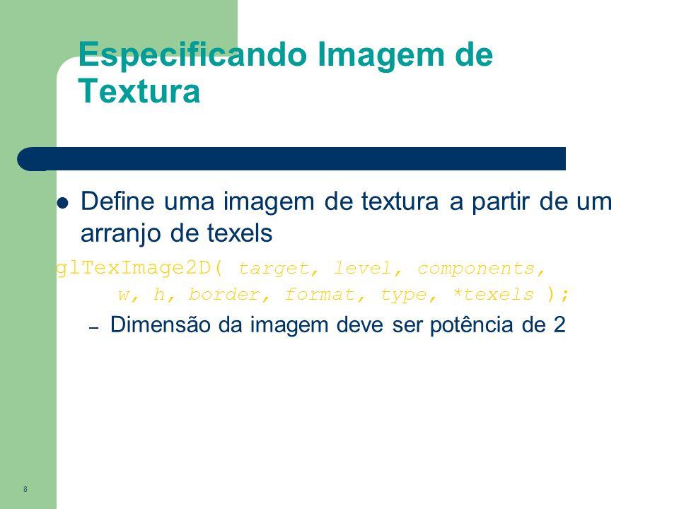 Especificando Imagem de Textura
