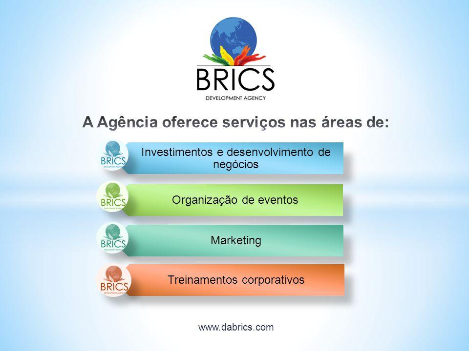 A Agência oferece serviços nas áreas de:
