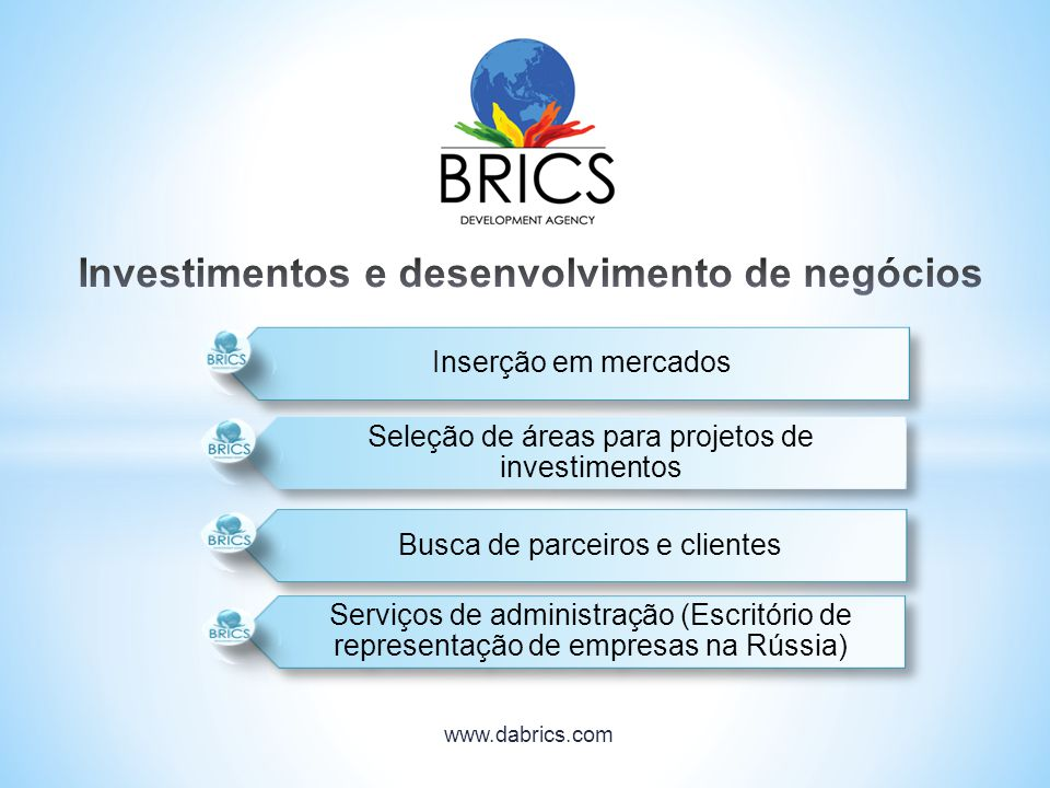 Investimentos e desenvolvimento de negócios