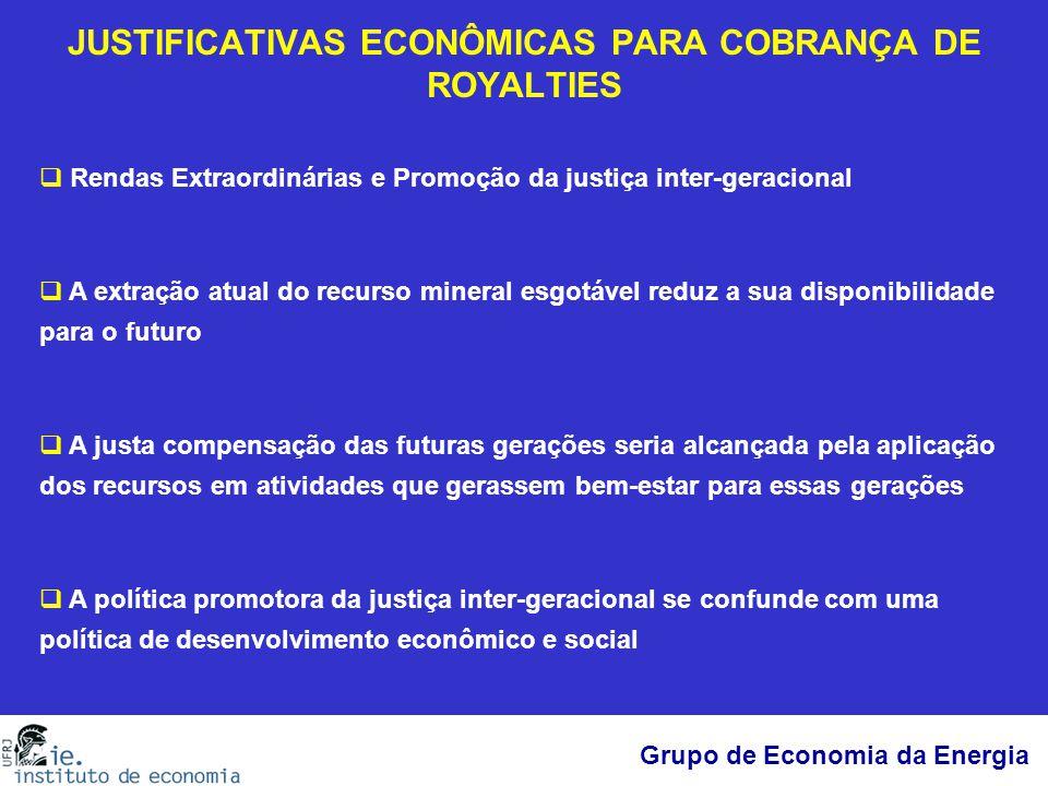 JUSTIFICATIVAS ECONÔMICAS PARA COBRANÇA DE ROYALTIES