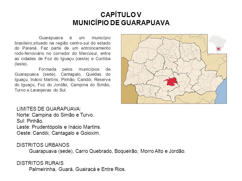 CAPÍTULO V MUNICÍPIO DE GUARAPUAVA