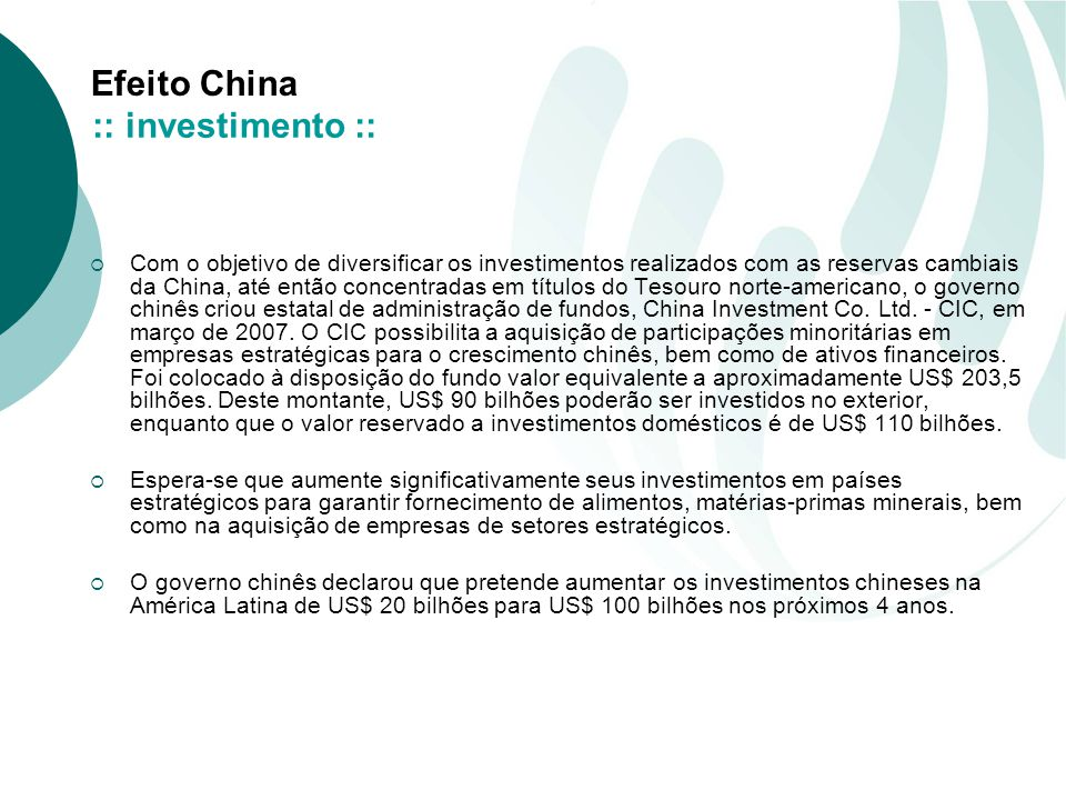 :: investimento ::