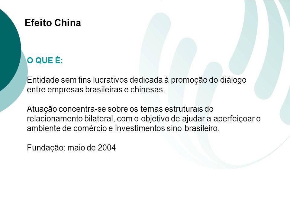 O QUE É: Entidade sem fins lucrativos dedicada à promoção do diálogo entre empresas brasileiras e chinesas.