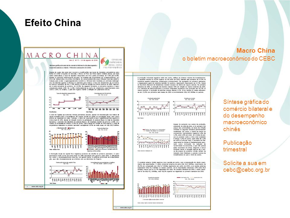 Macro China o boletim macroeconômico do CEBC