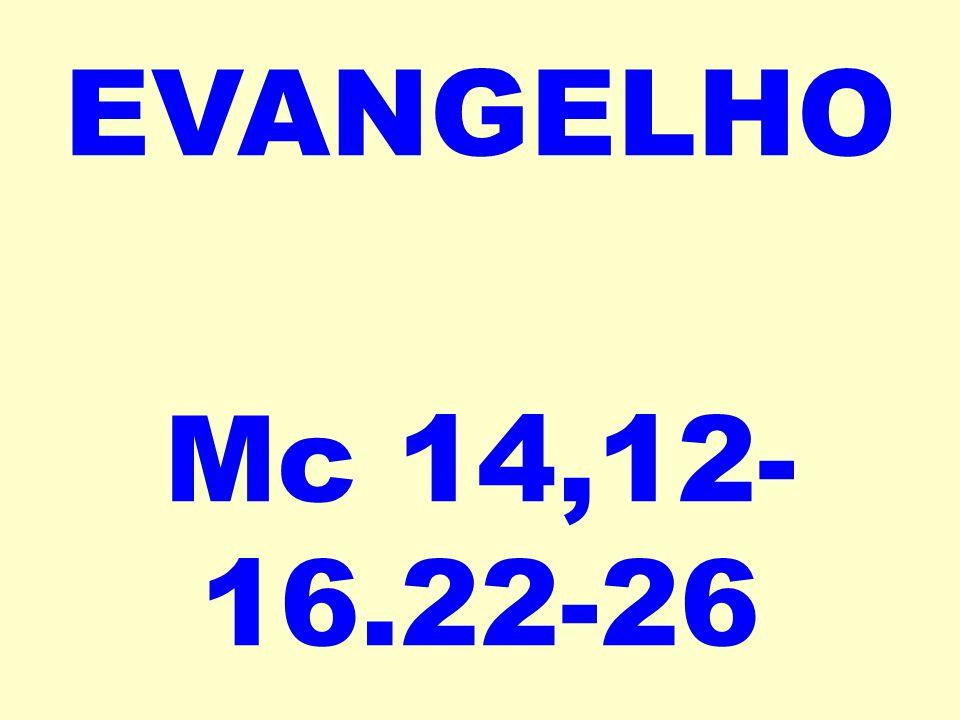 EVANGELHO Mc 14,12-16.22-26