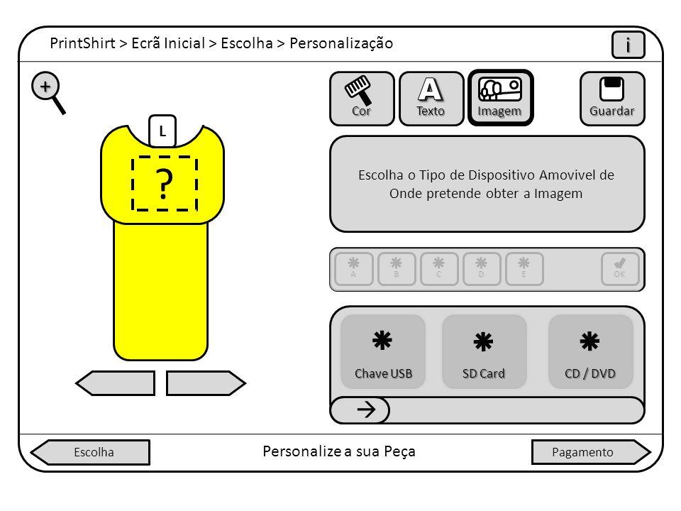 Escolha o Tipo de Dispositivo Amovivel de Onde pretende obter a Imagem