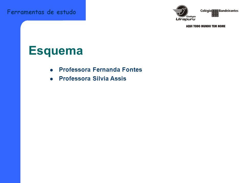 Esquema Professora Fernanda Fontes Professora Silvia Assis