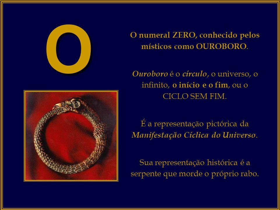 o O numeral ZERO, conhecido pelos místicos como OUROBORO.
