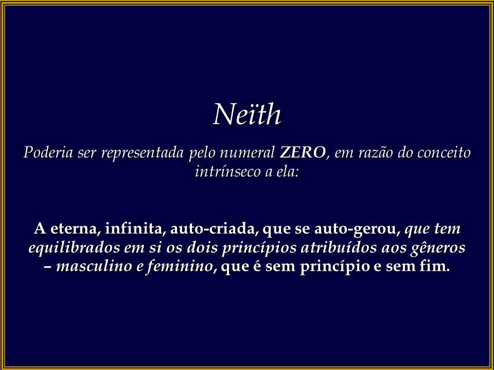 Neïth Poderia ser representada pelo numeral ZERO, em razão do conceito intrínseco a ela: