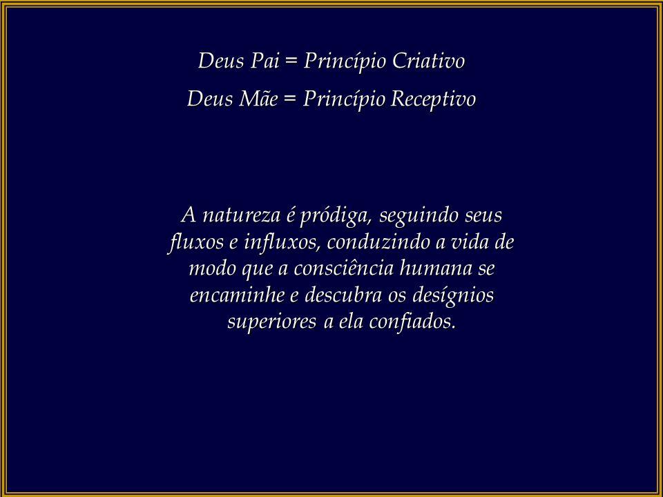 Deus Pai = Princípio Criativo Deus Mãe = Princípio Receptivo