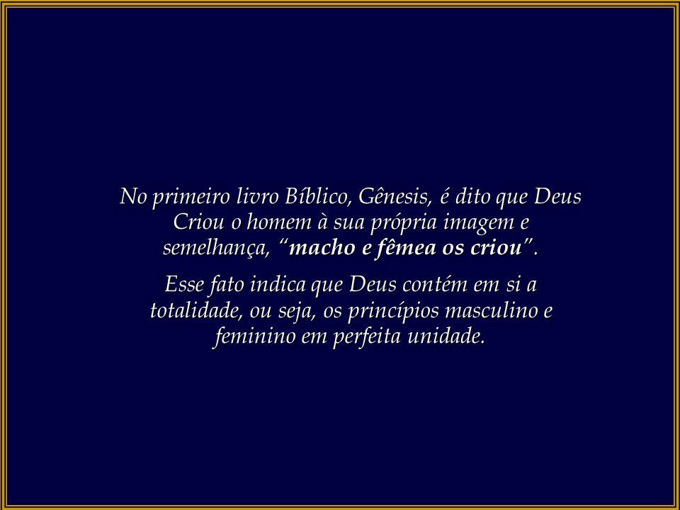 No primeiro livro Bíblico, Gênesis, é dito que Deus Criou o homem à sua própria imagem e semelhança, macho e fêmea os criou .