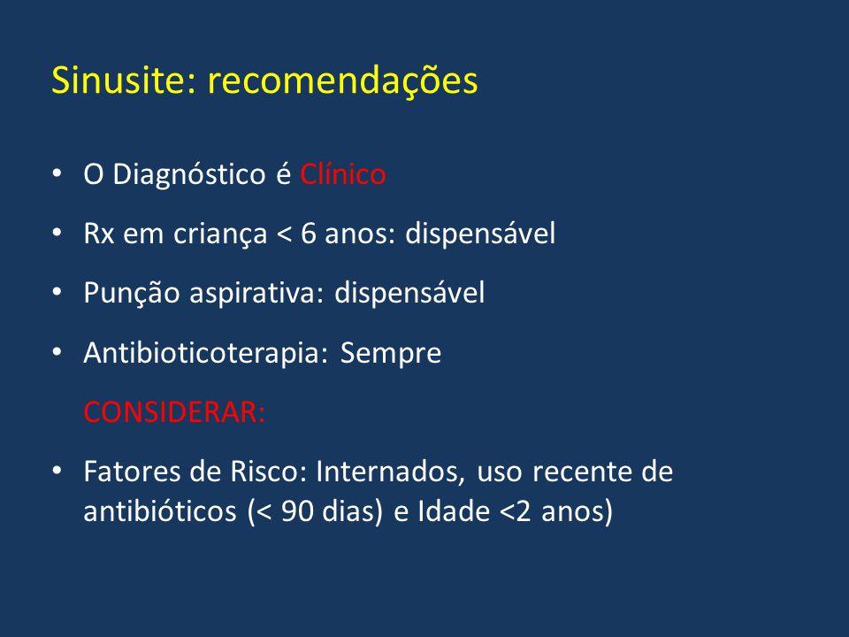 Sinusite: recomendações