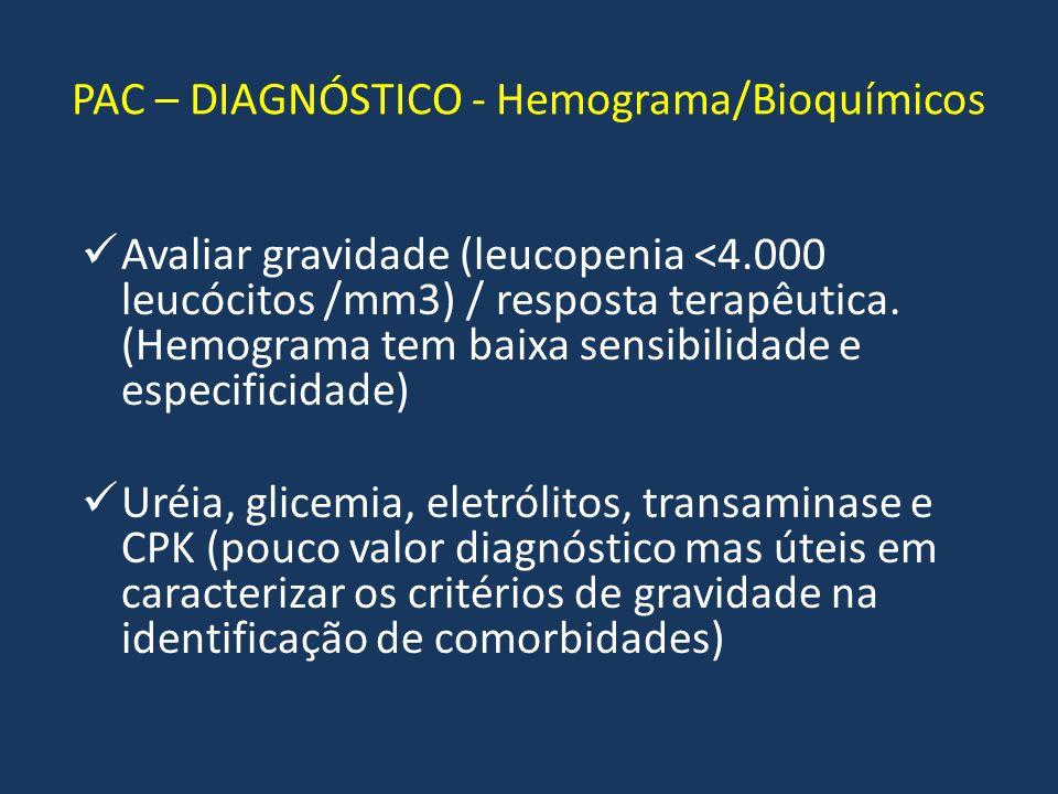 PAC – DIAGNÓSTICO - Hemograma/Bioquímicos