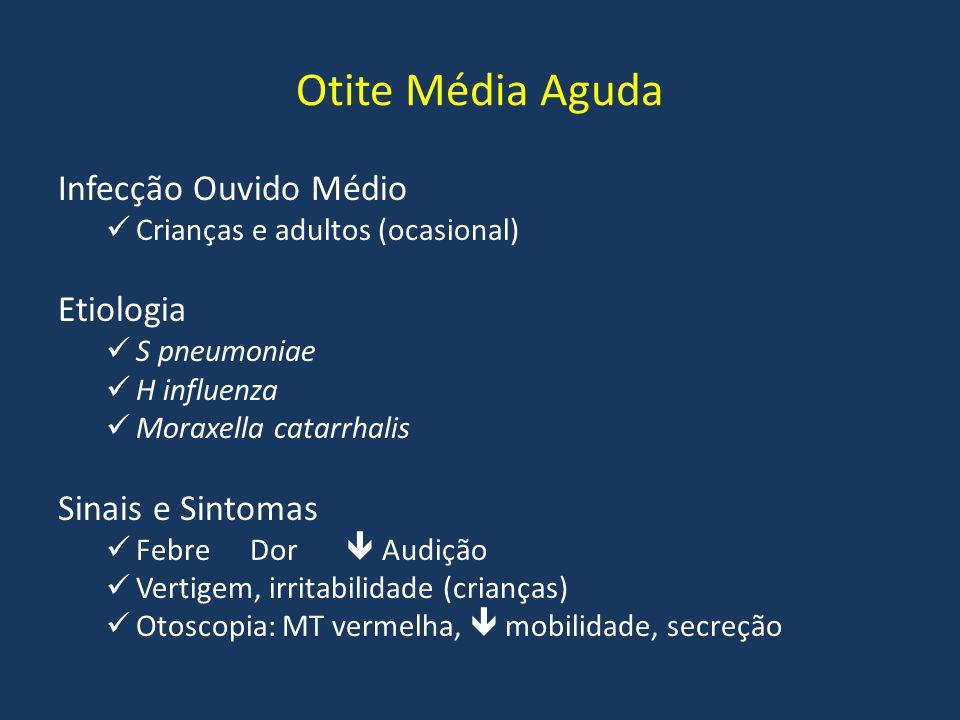 Otite Média Aguda Infecção Ouvido Médio Etiologia Sinais e Sintomas