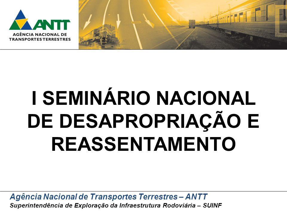 I SEMINÁRIO NACIONAL DE DESAPROPRIAÇÃO E REASSENTAMENTO