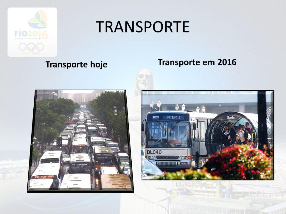 TRANSPORTE Transporte em 2016 Transporte hoje