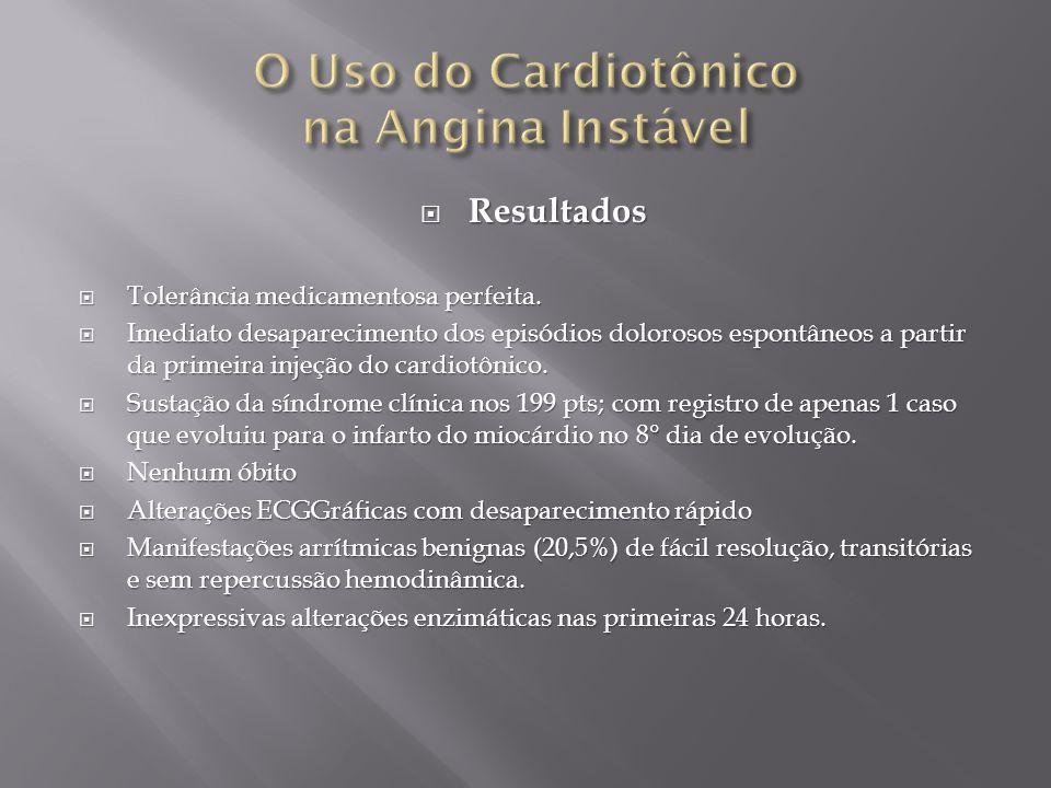 O Uso do Cardiotônico na Angina Instável