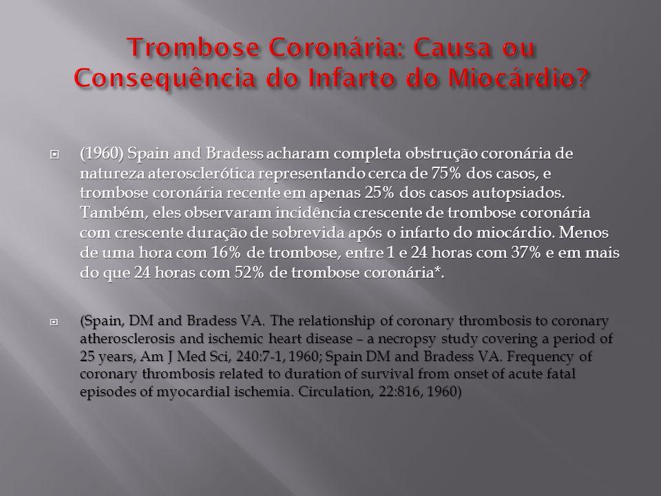 Trombose Coronária: Causa ou Consequência do Infarto do Miocárdio