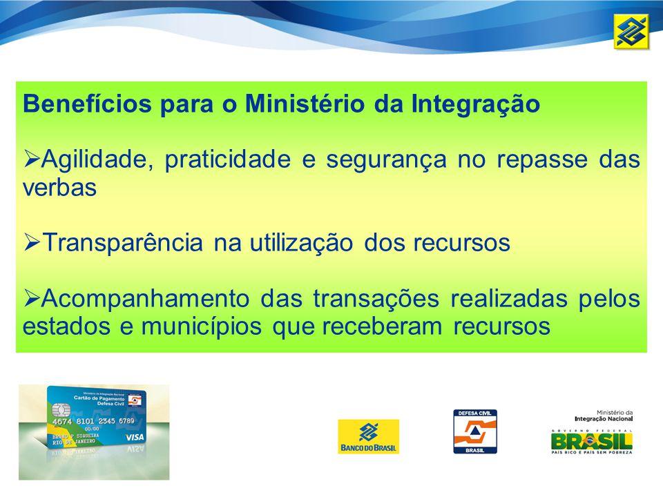 Benefícios para o Ministério da Integração