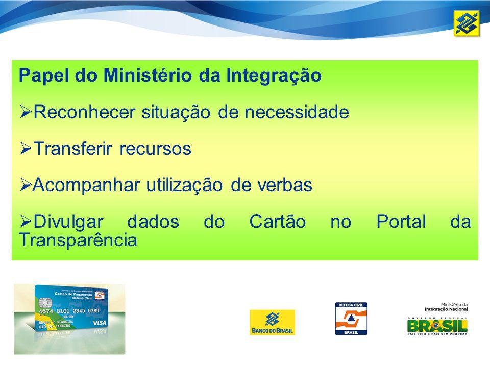 Papel do Ministério da Integração