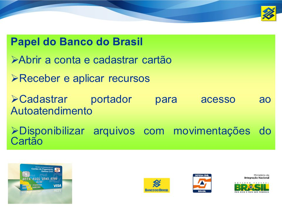 Papel do Banco do Brasil