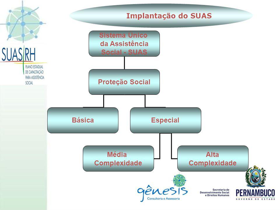 Implantação do SUAS Sistema Único da Assistência Social - SUAS